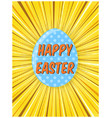 bright yellow retro comic background for easter vector image vector image