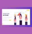 business leader win challenge prize landing page vector image vector image