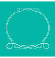 Calligraphic round frame 4 Abstract design element vector image vector image