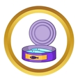 Canned sprats icon vector image