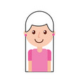 cartoon portrait girl teacher professional vector image