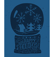 Christmas card Bowl with snow Ink sketch vector image vector image