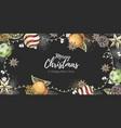christmas holiday hand drawign poster vector image