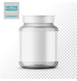 clear glass medicine bottle template vector image vector image