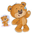 clip art art teddy bear waving vector image