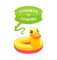 Colorful Duck Says Summer is Coming vector image
