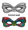 coloring page carnival masks vector image vector image