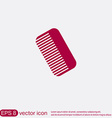 comb barbershop symbol of hair and beauty salon vector image vector image