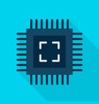 Computer chip flat icon vector image