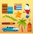 cuba landmarks and cultural symbols vector image