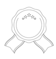 decorative seal stamp icon vector image vector image