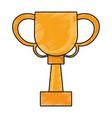 drawing winner cup trophy prize golden vector image vector image
