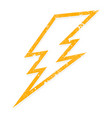 electric lightning bolt vector image vector image