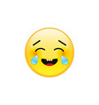 emoji face with tears of joy vector image vector image