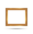 gold photo frame with corner line floral picture vector image