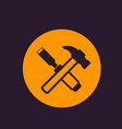 hammer and chisel icon vector image
