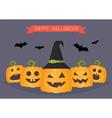 Happy Halloween Pumpkins vector image vector image