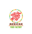 Icon for mexican food cuisine vector image