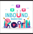 inbound marketing online promotion strategy vector image vector image
