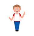isolated happy boy icon vector image vector image