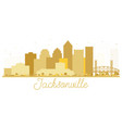 jacksonville florida usa city skyline golden vector image vector image