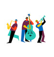 jazz band group on isolated background vector image