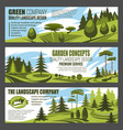 landscape design company and horticulture service vector image vector image