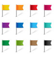 location pin flags set isolated white background vector image vector image