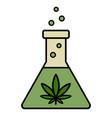marijuana research in lab vector image