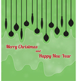 merry christmas and happy new year with ornaments vector image