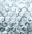 Metal silver isometric low poly seamless pattern vector image