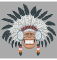 Monkey Indian Chief vector image vector image