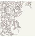 original Ukrainian traditional floral background vector image vector image