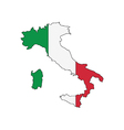 outline of Italy vector image vector image