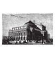 paris opera house was built by architect charles vector image vector image