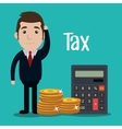 Pay taxes graphic vector image