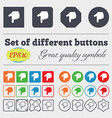 pointing hand icon sign Big set of colorful vector image vector image