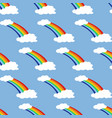 rainbow seamless pattern vector image vector image