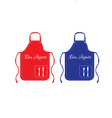 Red and blue apron vector image