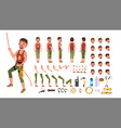 rock climber male animated character vector image
