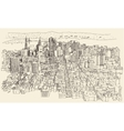 San Francisco City Architecture Vintage Engraved vector image vector image