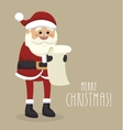 santa claus isolated icon design vector image