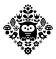 scandinavian pattern nordic folk art - finnish vector image