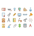 School elements colorful icons set vector image vector image