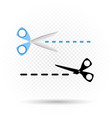 scissors line cut symbol vector image
