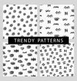 seamless patterns set with trendy eyes shapes vector image vector image