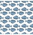 seamless vintage fish drawings pattern vector image