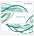set abstract template banner vector image
