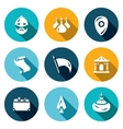 Set of Ancient Russia Icons Bogatyr vector image vector image