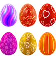 set of colorful easter eggs vector image vector image